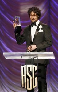 CONCRETE NIGHT DoP Peter Flinckberg with his ASC Spotlight Award
